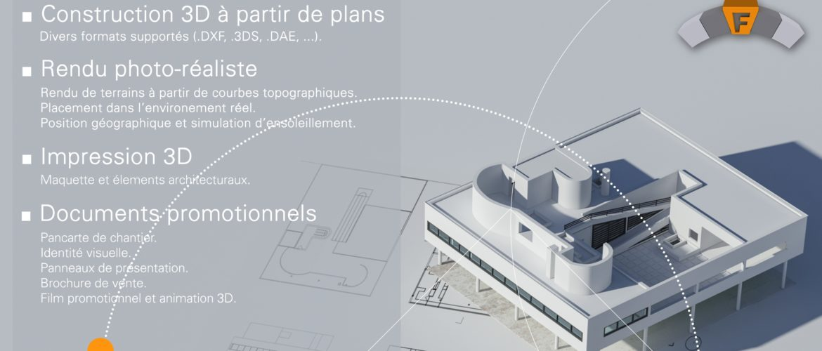 Services d'infographies 2D / 3D et impression 3D